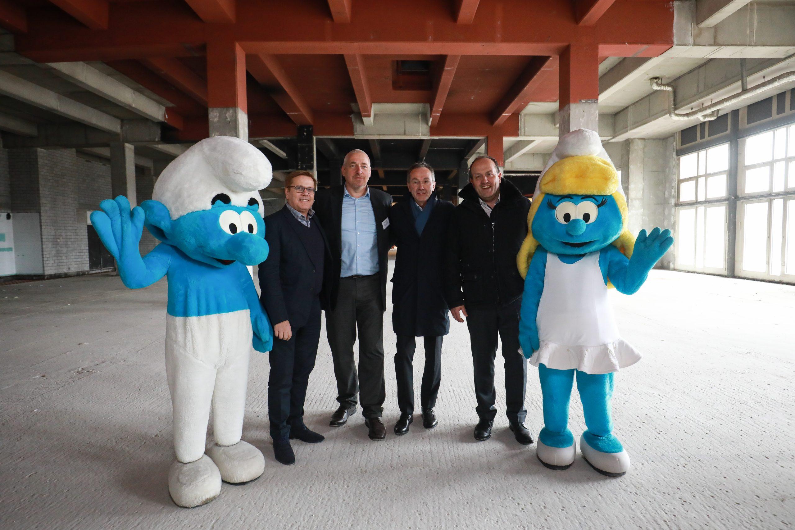 Pressekonferenz: Neue EXPOHALLE und SCHLUMPF Eröffnungsausstellung.